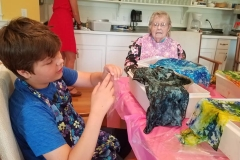 Dying Cloth with Kids and Seniors