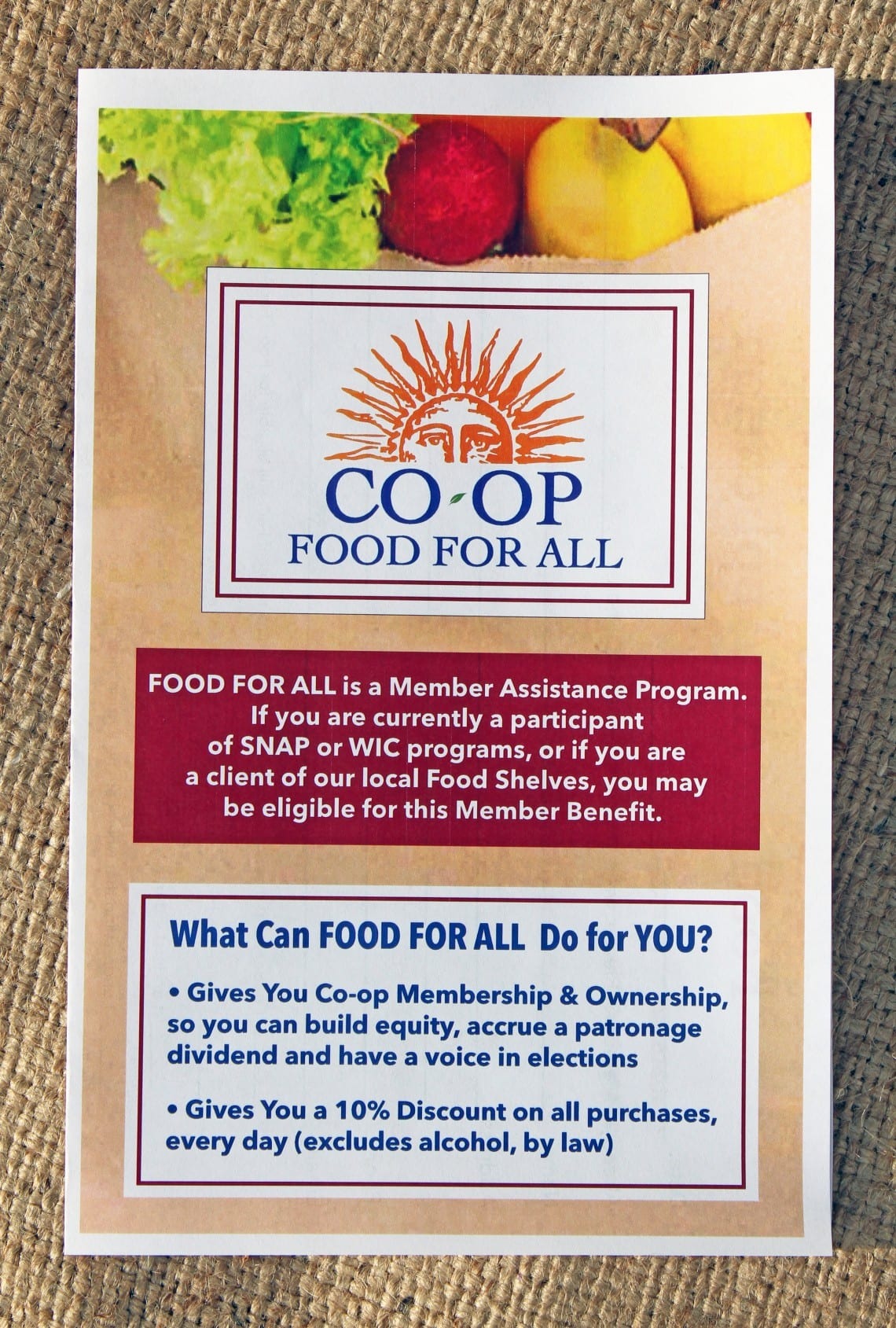 Food For All Brochure