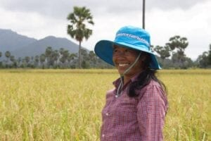 Cambodian More Crop Per Drop™ farmer