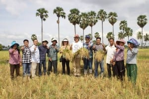 Lotus foods owners in Cambodia with More Crop Per Drop™ farmers 2