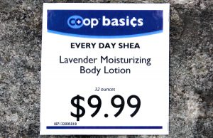 Alaffia Co-op Basics Sign