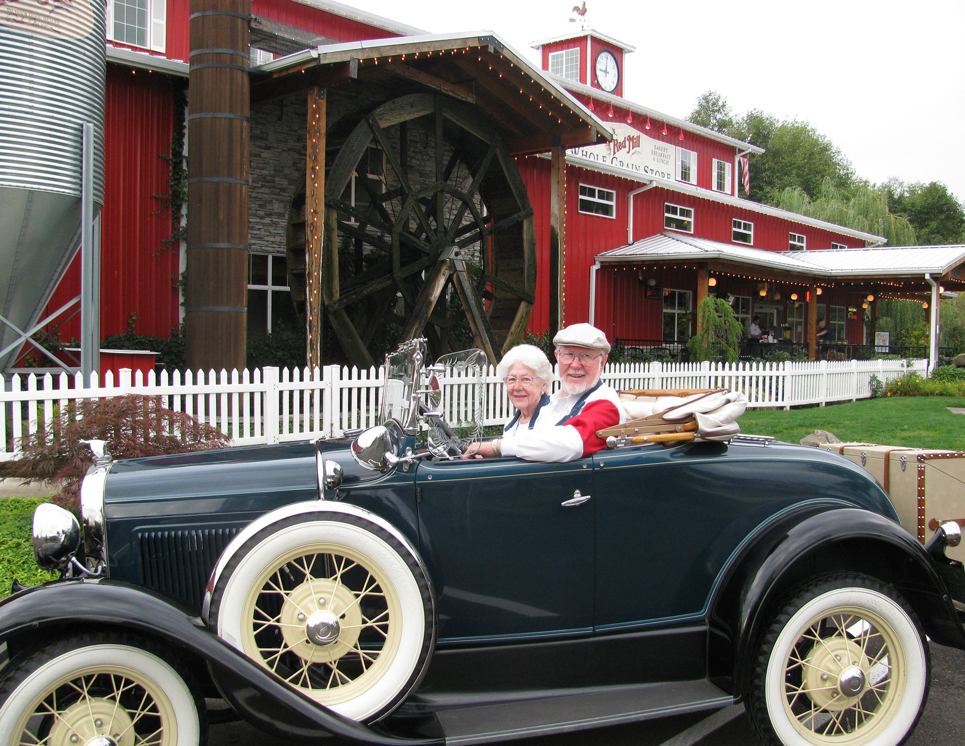 Bob and his wife Charlee at the Bob's Red Mill Headquarters